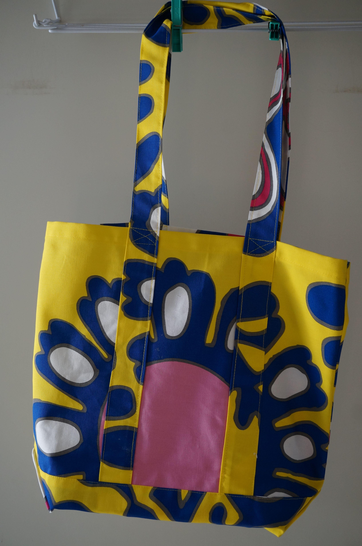 patroon tas gevonden op terryatkinson.typepad.com stof van Ikea