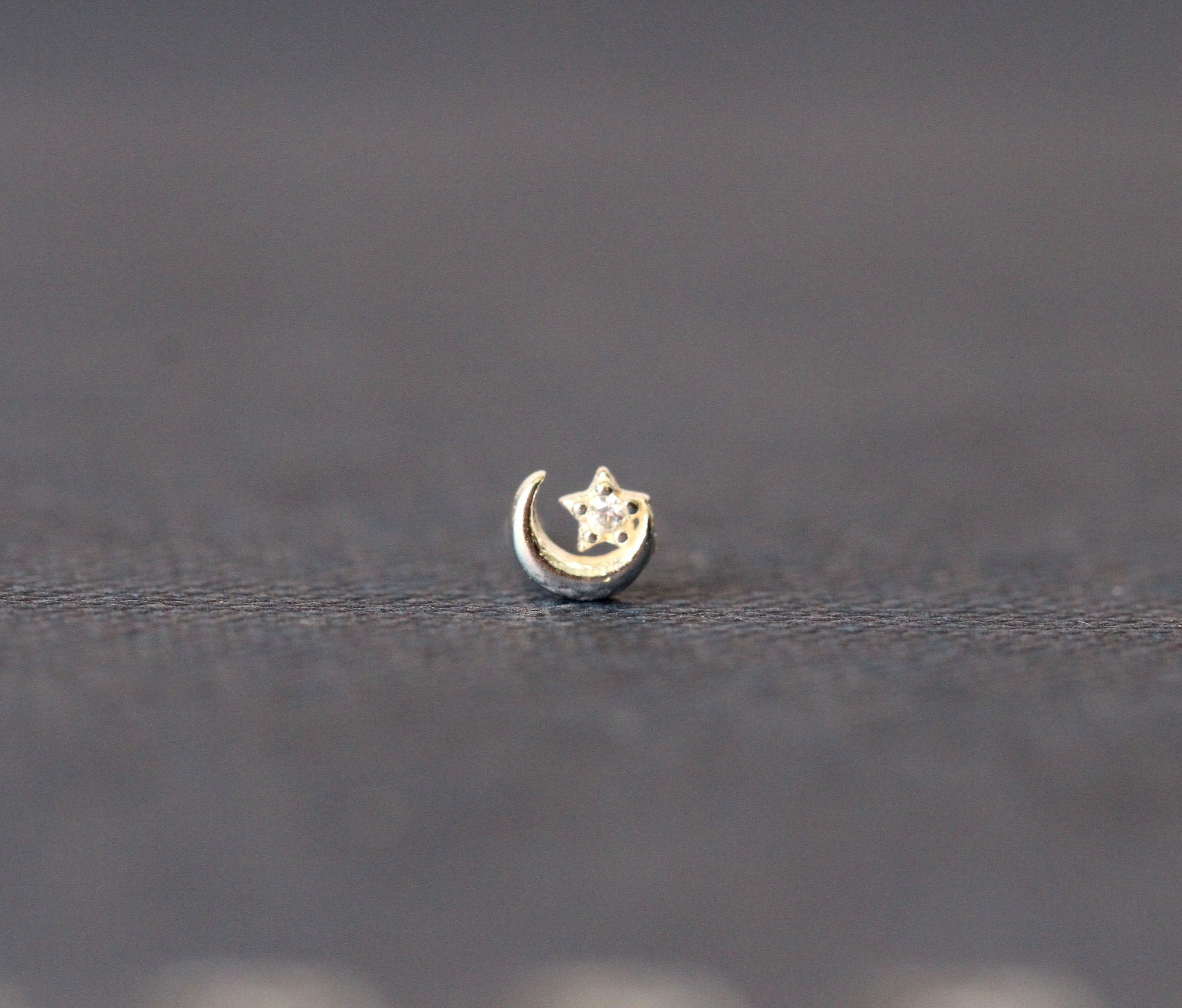 Ball Cone or Flat top 1mm NOSE STUD PIERCING in Stainless Steel or Titanium