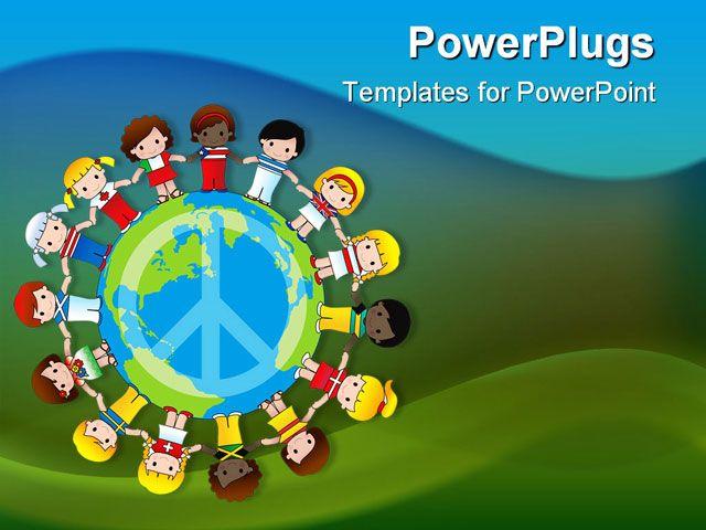 globe peace sign - google search | education bulletin board, Powerpoint templates