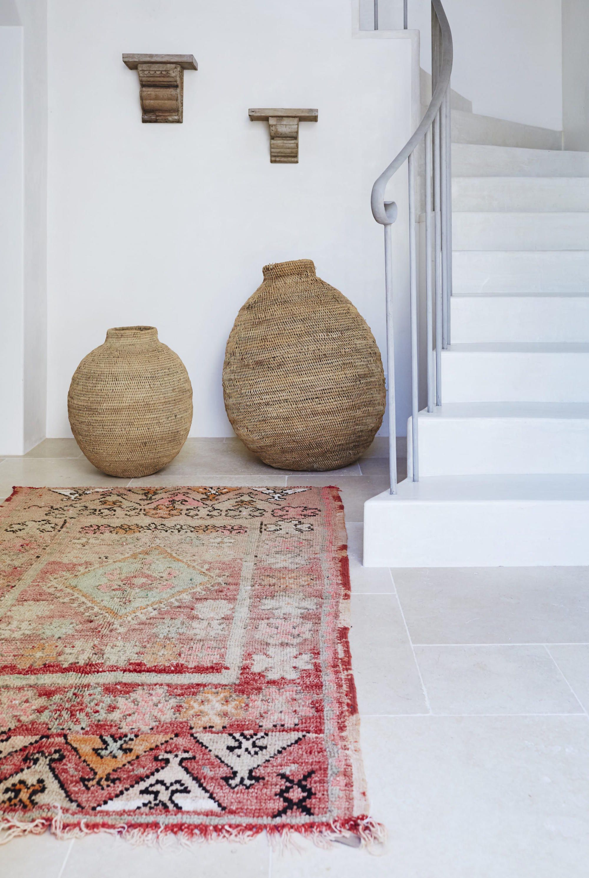 Moroccan Rugs Make An Inspired Entryway A Splash Of Colour In Otherwise Neutral E