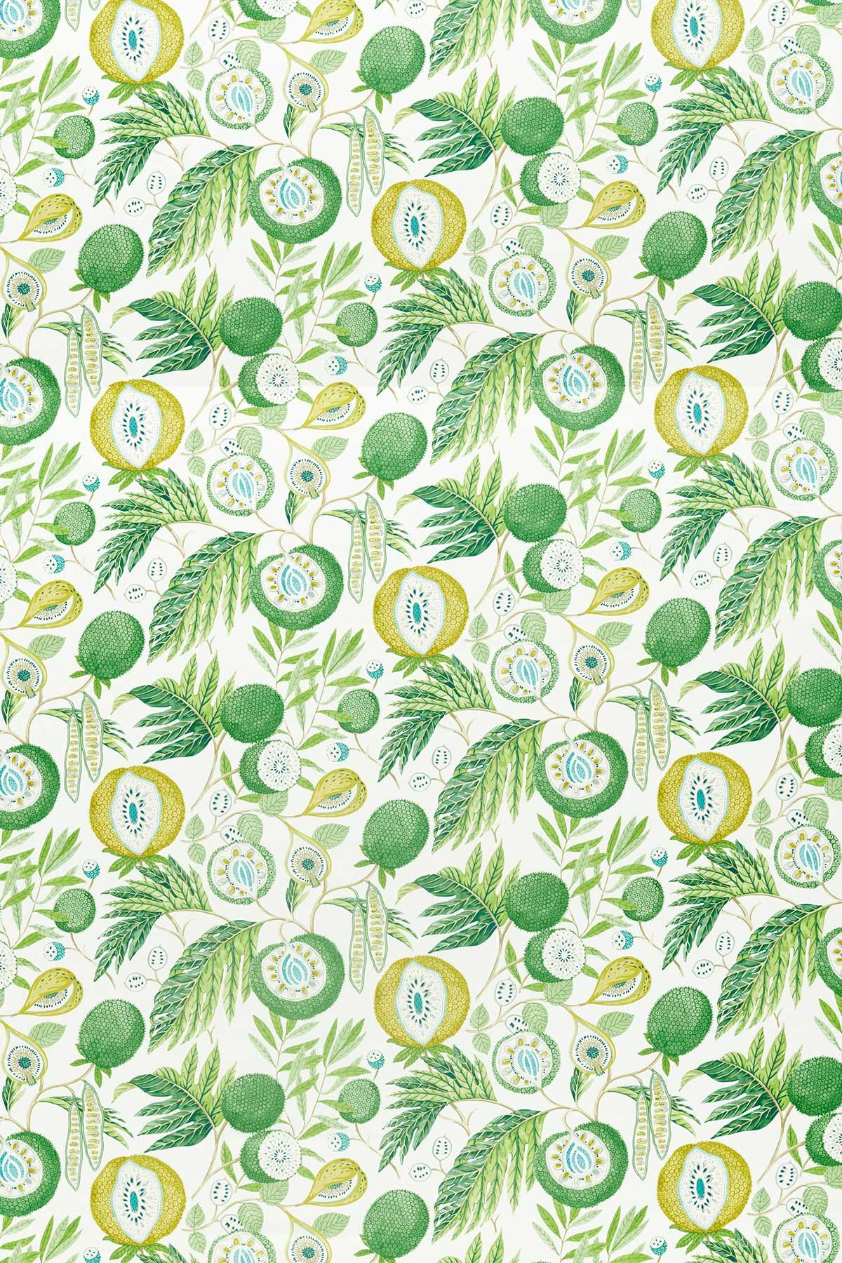 Jackfruit by Sanderson Botanical Green Fabric 226559