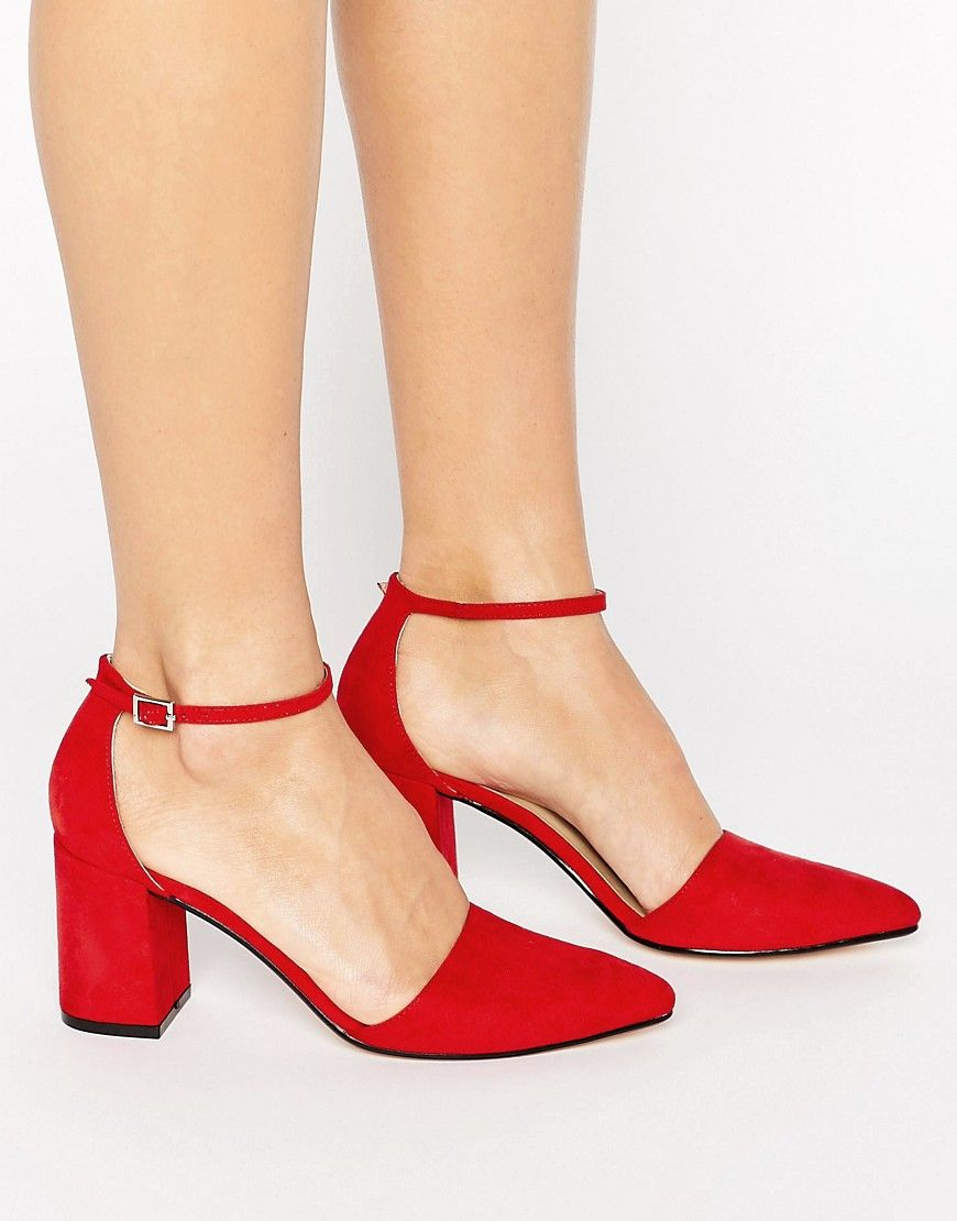 86ebf34c2433fb Truffle Collection - Schuhe mit Blockabsatz - Rot Jetzt bestellen unter   https