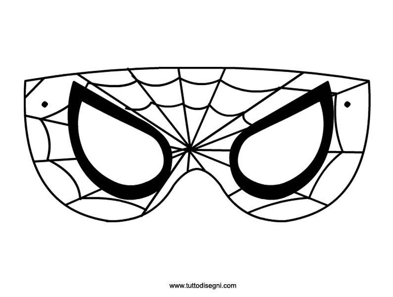 Maschera Dell Uomo Ragno Da Colorare Tuttodisegni Com Carnevale