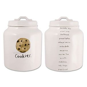 Chocolate Chip Cookie Jar By Artist Rae Dunn Air Tight Seal