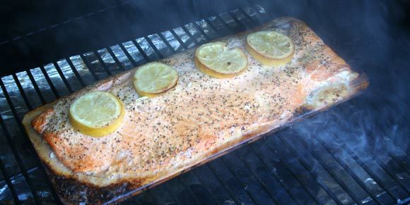 The best salmon ever. Cooked outdoors on the Traeger Grill ...