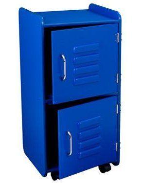 KidKraft Medium Kids Wood Storage Locker W Wheels Blue 14323 | EBay Use As  Nightstand