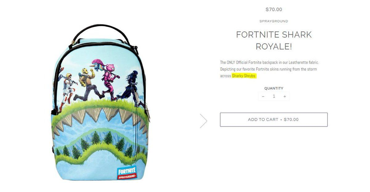 Sprayground x Fortnite Collaboration hints at a new named