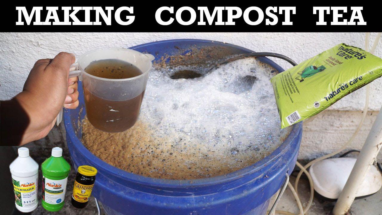 How To Make Compost Tea Organic Fertilizer For Your Plants Compost Tea Recipe Compost Tea Organic Fertilizer