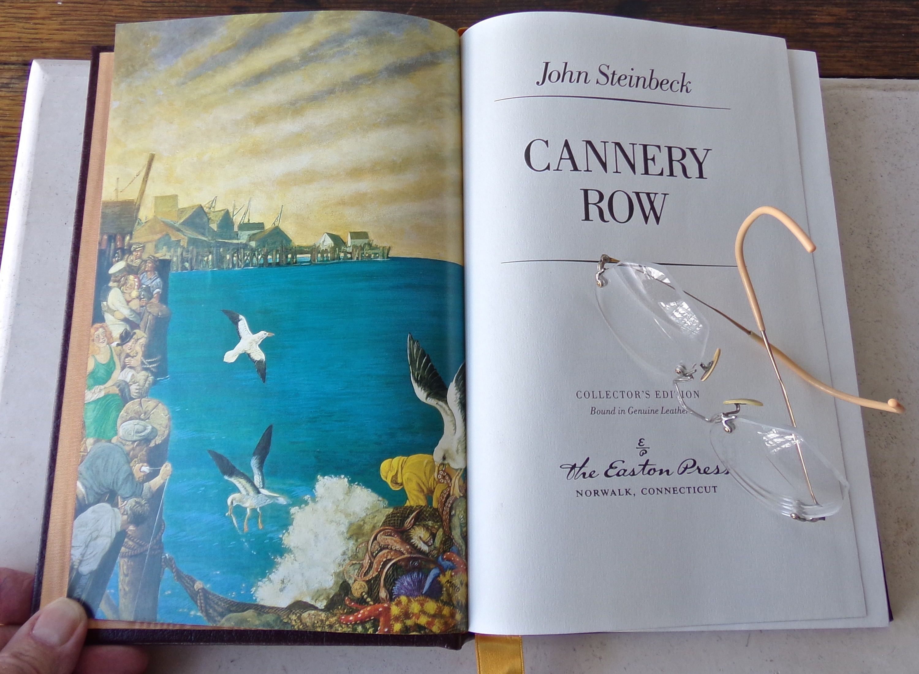 Vintage Cannery Row John Steinbeck Collector Edition Genuine Leather 1988 In 2020 Book Lover Gifts Essay