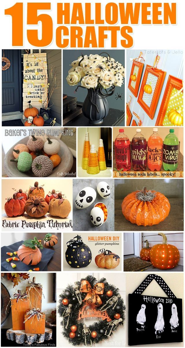 15 Halloween Crafts halloween halloween crafts diy halloween - kids halloween party decoration ideas