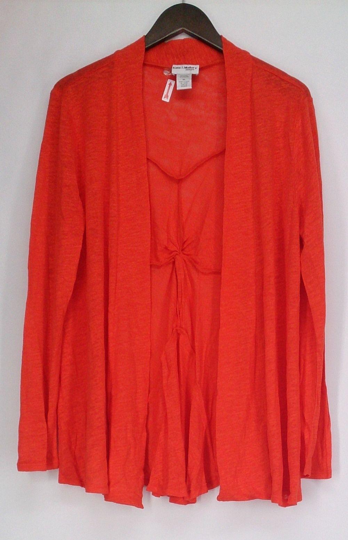Kate & Mallory Sweater XL Long Sleeve Open Front Cardigan Orange ...