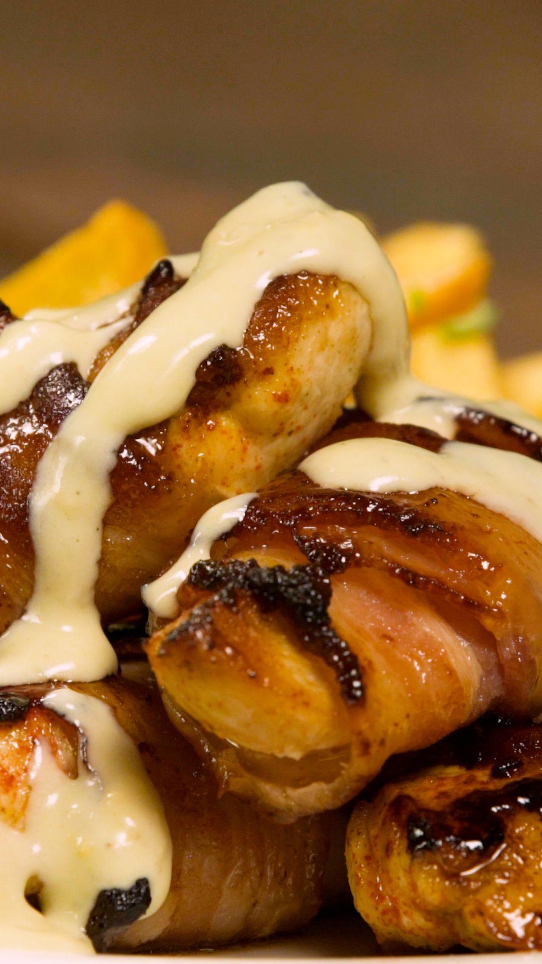 Pollitos Crocantes con Salsa de Queso