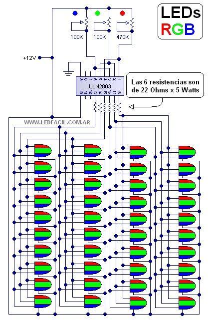 El Rincon De Los Circuitos 49 Led Rgb Diagrama Electrónico Esquemas Electrónicos Electrónica