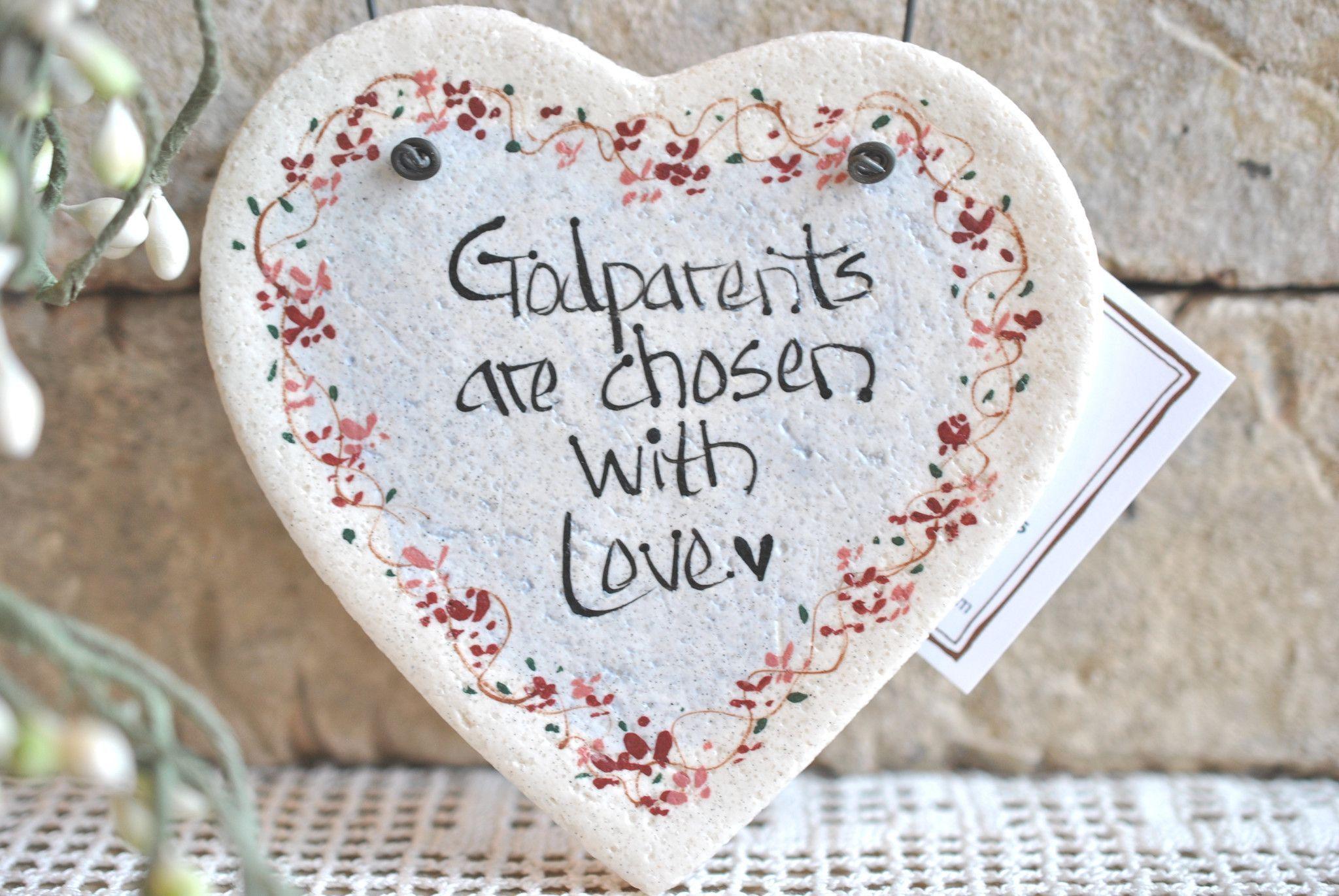 Baptism Gift For Godparents Christening Gift Godparents: Godparents Gift Salt Dough Heart Ornament