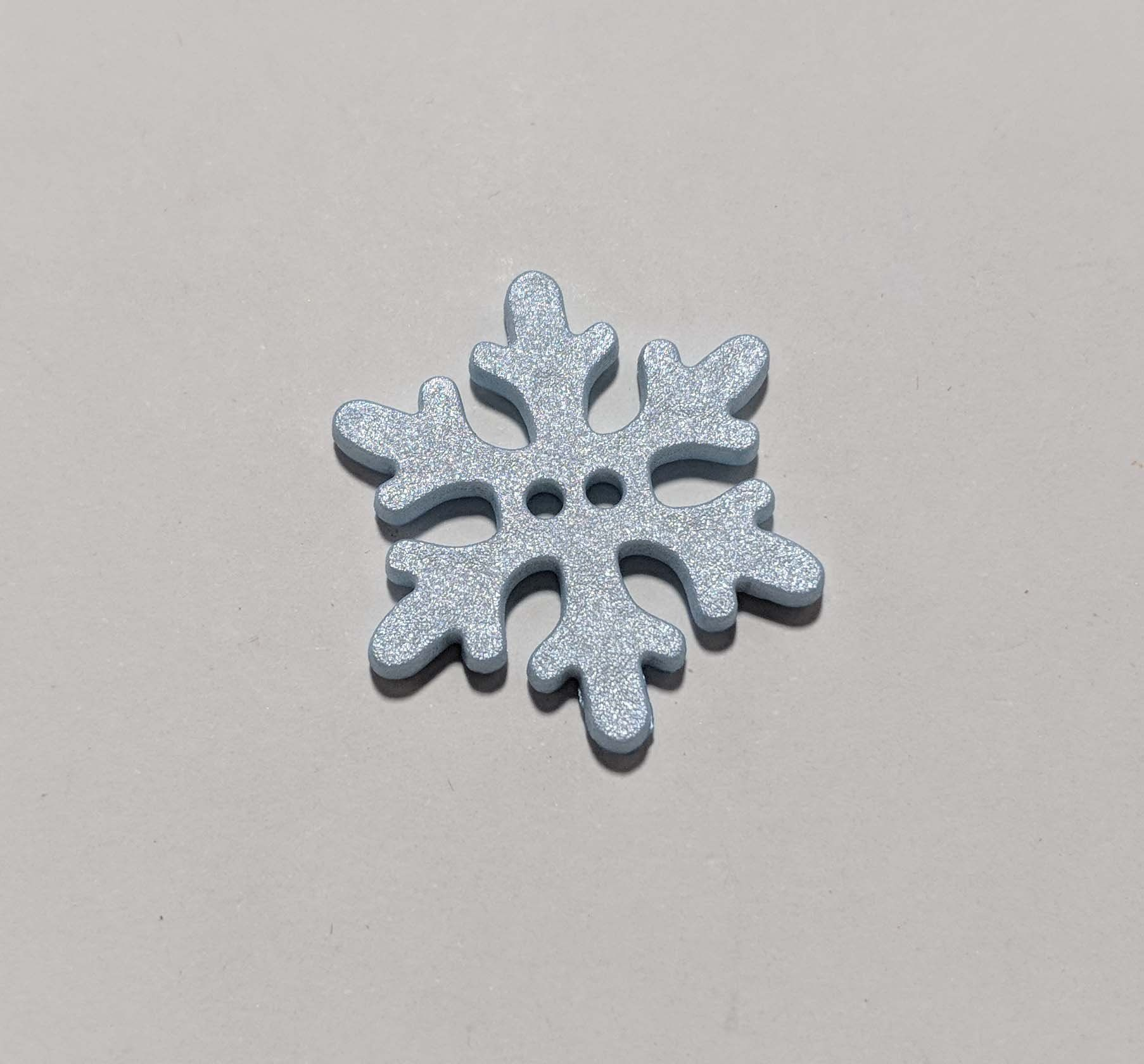 1-3//8 inch Dill Buttons 34mm SNOWFLAKE Plastic Button