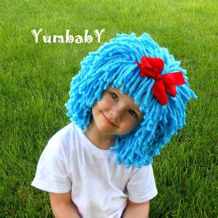 bright blue thing 1 thing 2 wig fun halloween costume idea this listing is - Thing 1 Thing 2 Halloween Costume