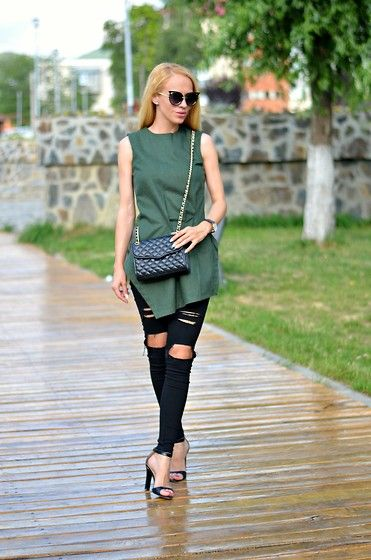 Sheinside Top, Sheinside Eyewear, Jeans, Rebecca Minkoff Bag