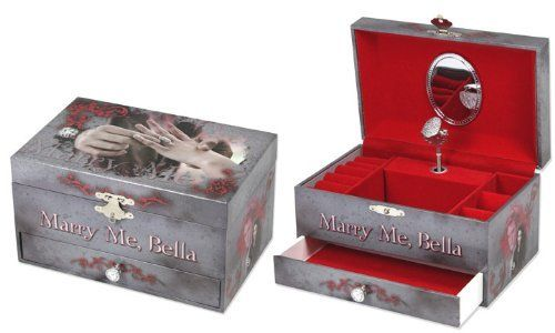 Twilight Eclipse MARRY ME BELLA Musical Jewelry Box With Wearable