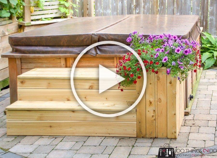 Hot Tub Steps 100 Things 2 Do Hot Tub Landscaping Hot Tub Steps Hot Tub Outdoor
