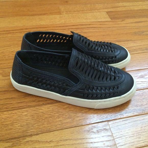 8cb6d0ea1a88 Tory Burch Blue Huarache Slip-On Sneaker Navy blue slip-on sneakers by Tory  Burch! Leather upper
