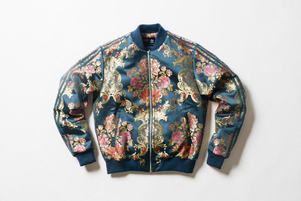 Adidas Flower Bomber Jacket Ray Redblueblack