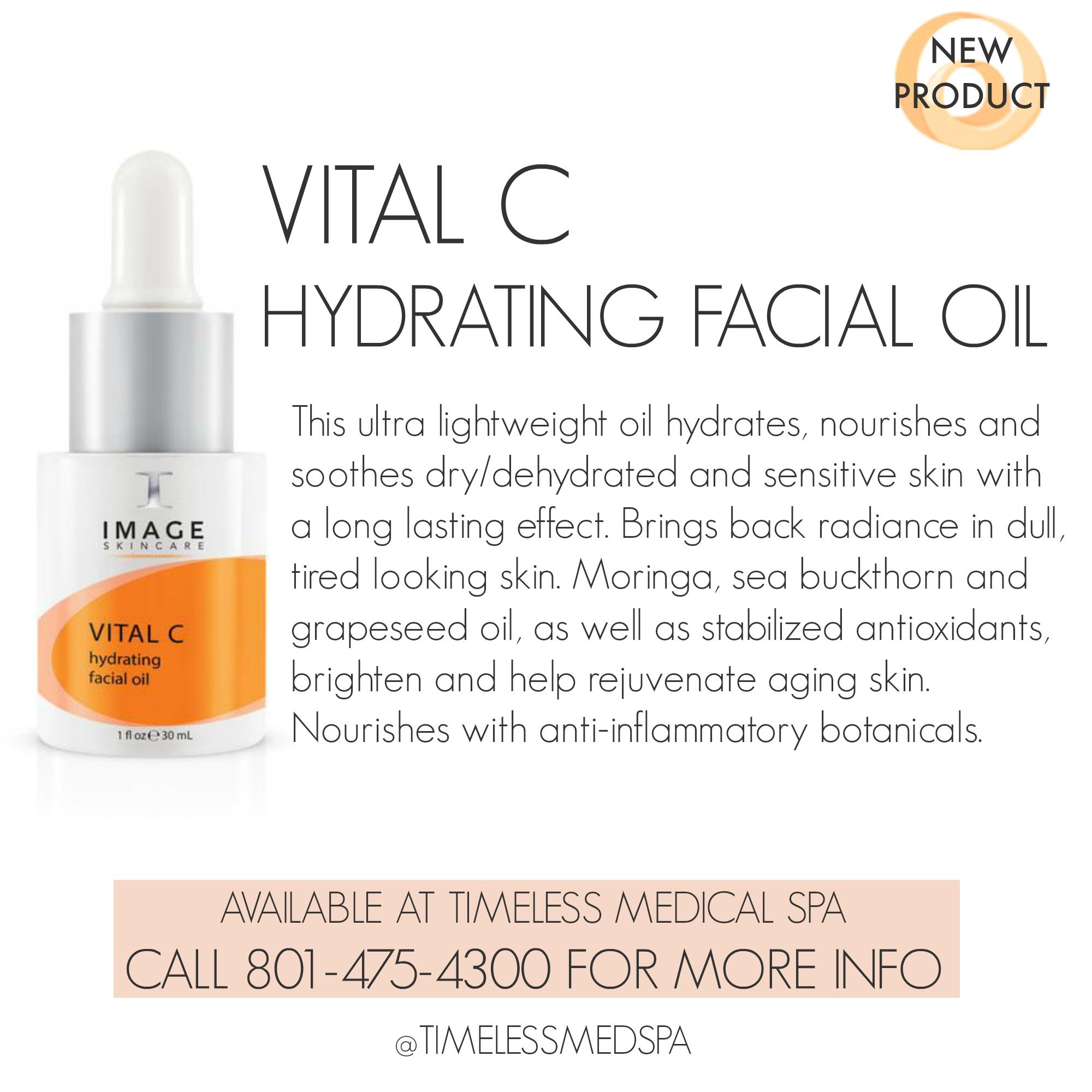New To The Vital C Line From Image Skincare Is This Ultra Lightweight Nourishing Hydrating Facial Oil For Sensitive Skin Skin Care Dry Skin Care Skin Care Spa