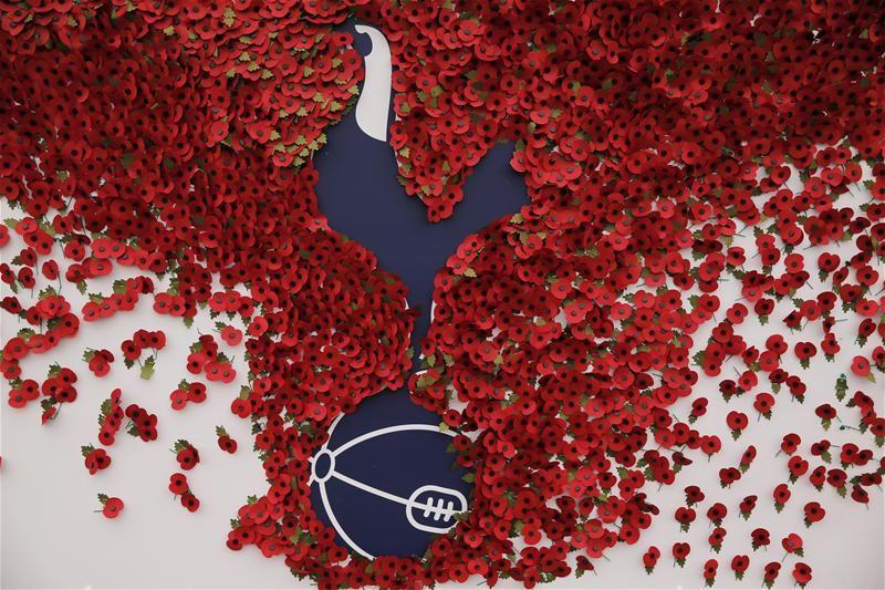 The Royal British Legion Tottenham Hotspur Poppy Football Pin 2019