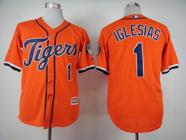 MLB Detroit Tigers 1 Jose Iglesias Orange 2015 Jerseys