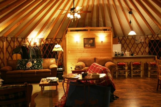 picture inside of yurts homes | really? a $75,000 yurt? | colorado