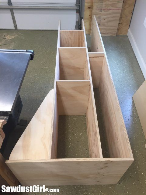 Rolling Lumber Cart for Vertical Wood Storage | Pinterest | Wood storage Storage cart and Storage ideas & Rolling Lumber Cart for Vertical Wood Storage | Pinterest | Wood ...