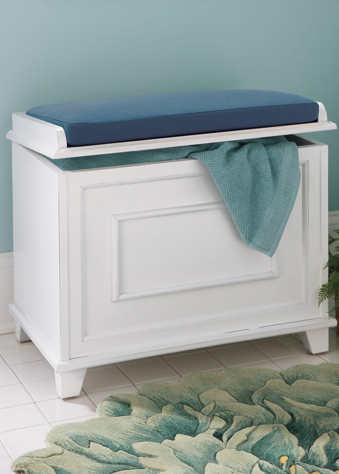 16++ Bathroom storage bench with cushion ideas