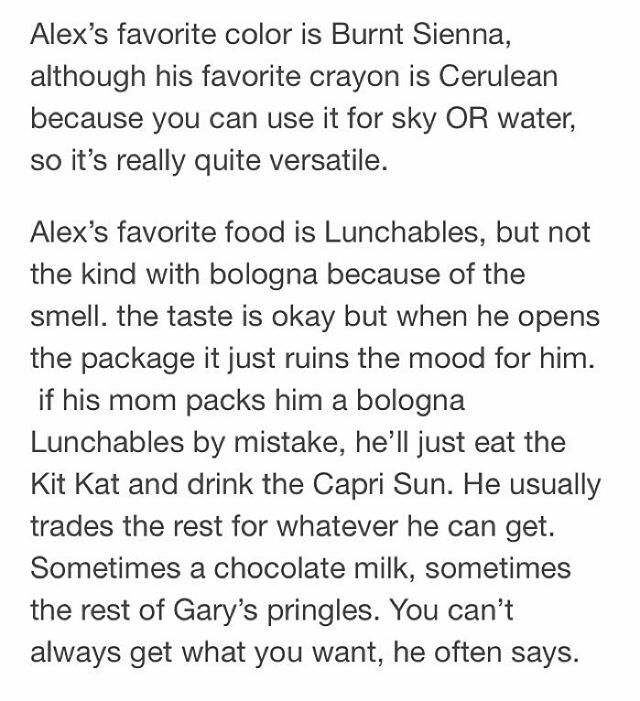 Do you know this about Alex Turner from the Arctic Monkeys? I'm not sure if is true but.... it's great