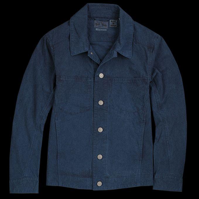 UNIONMADE - BLUE BLUE JAPAN - Hand Dyed High Density Short Jacket in Indigo
