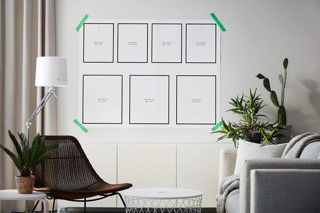 Ikea Gallery Wall Template Living Room Gallery Wall Gallery Wall