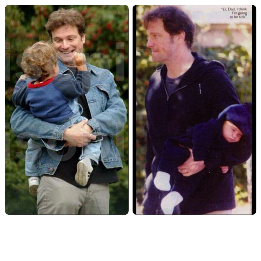 Colin Firth with sons ...
