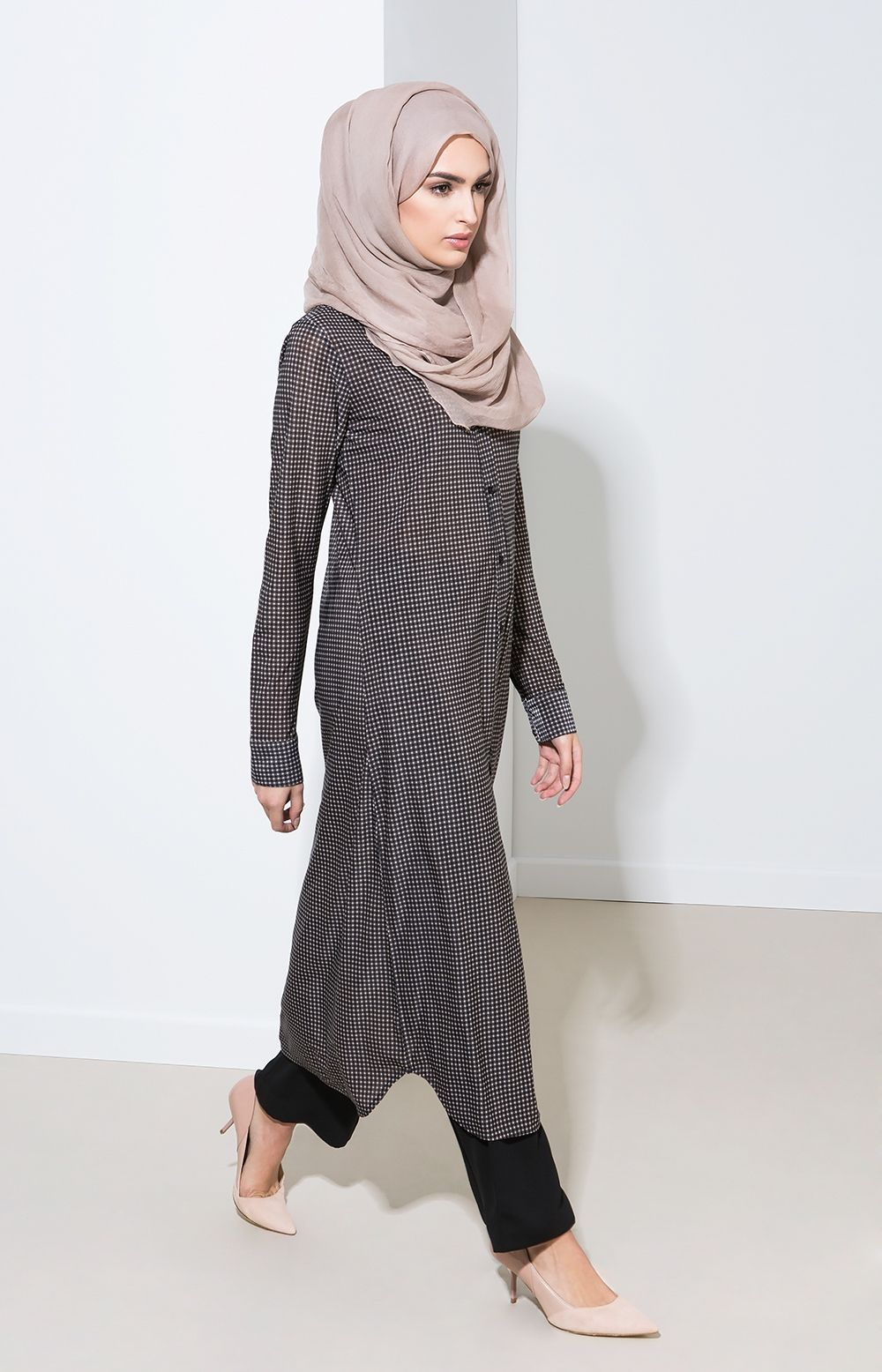 e81476676ee3 Aab collection UK Squares Shirt Dress | abaya design | Dresses ...
