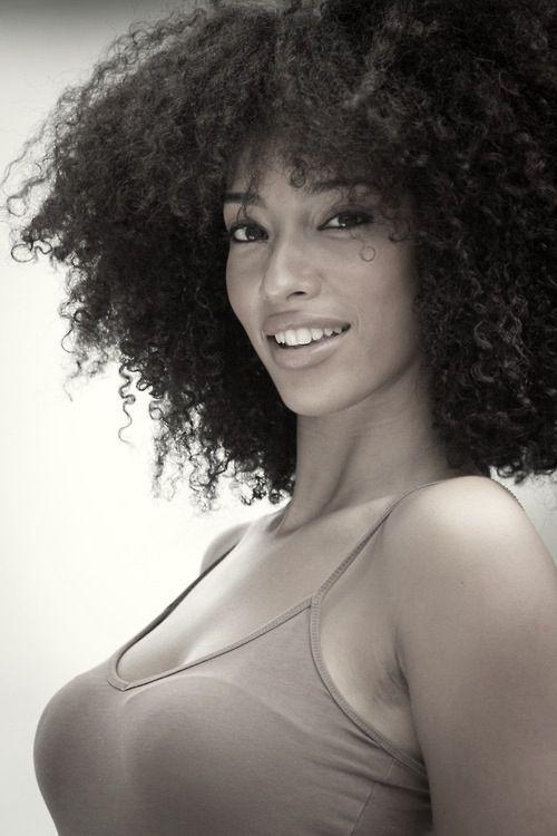 Sexy Ebony Teen Curly Hair