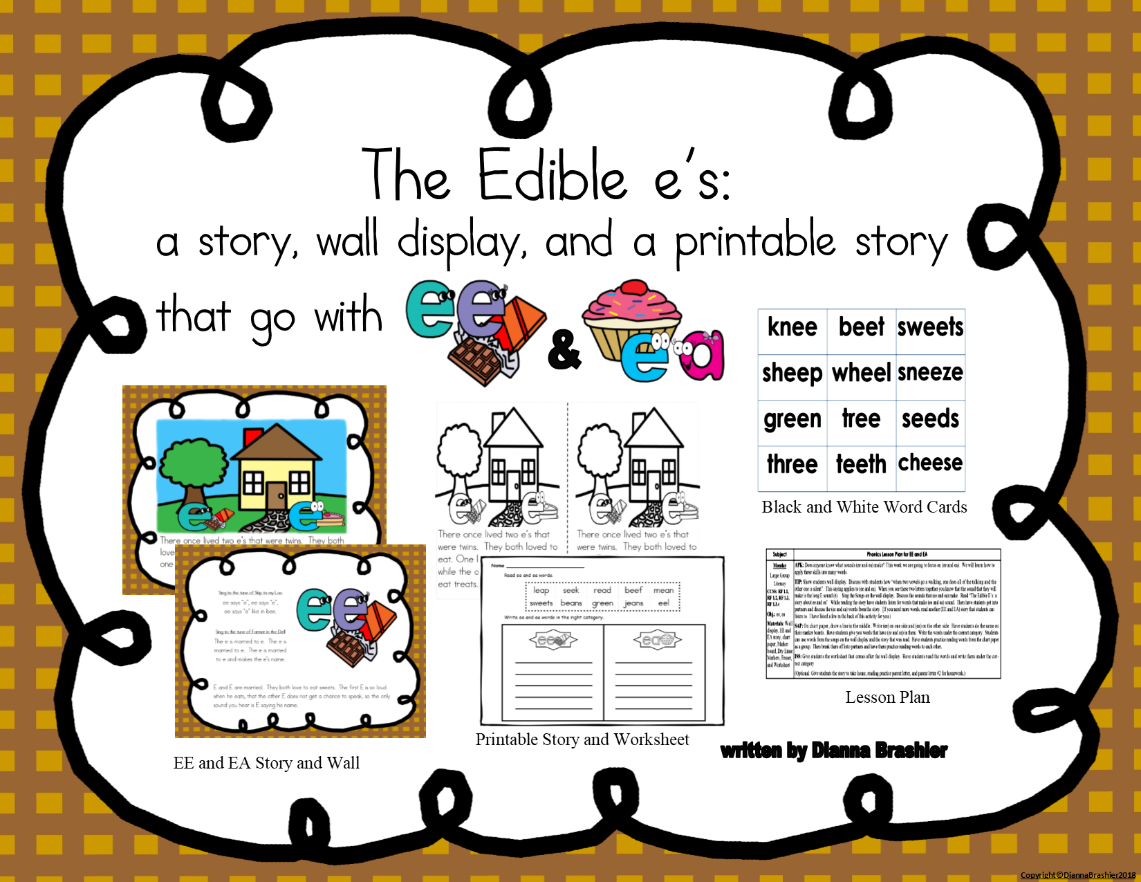Ee Ea Story Printable Story And Wall Signs With Images