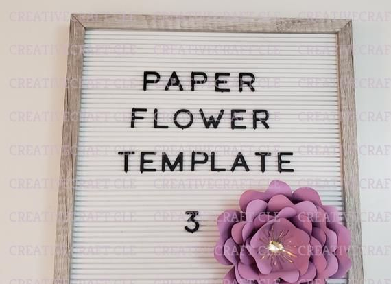 Giant paper flower template 3 instant download cut file svg for cricut silhouette and cutting machin #giantpaperflowers