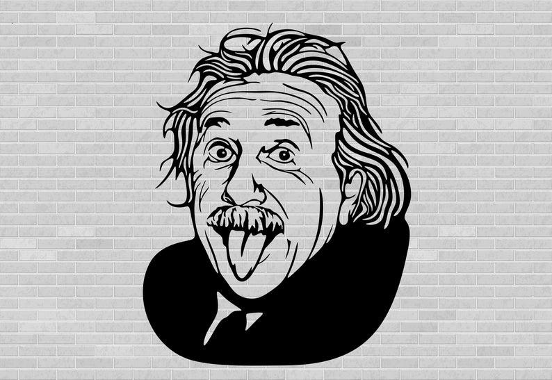 Albert Einstein Svg Albert Einstein Clipart Albert Einstein Etsy Einstein Clipart Albert Einstein Vector Art