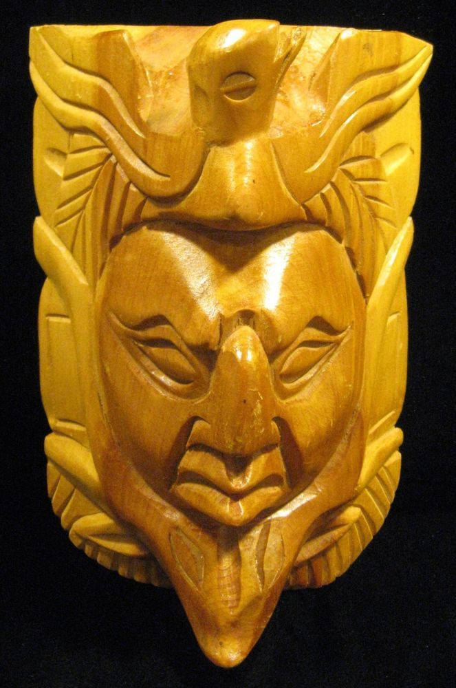 Vintage Hand Carved Wooden Face Wall Decoration | Wall decorations ...