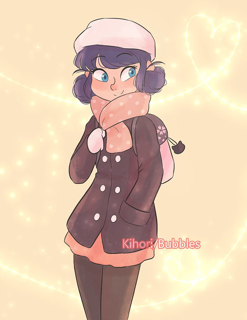 "70e40f5884f57 kihori: "" I made my own design of Marinette's winter clothes ..."