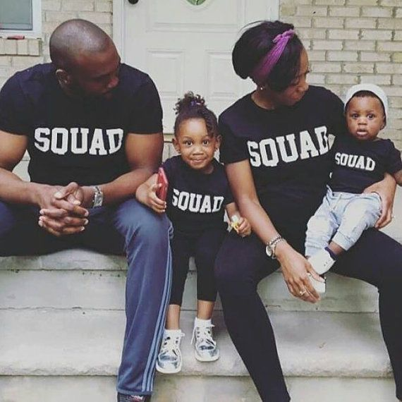 922f456e09aa Squad Matching Tshirts Father Mother Daughter Son Parent Child Friends  Instagram