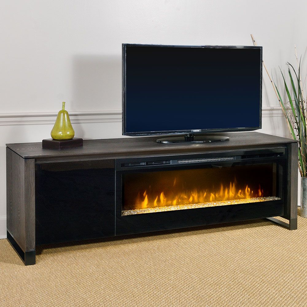 Classic flame belmont 60 quot tv stand with electric fireplace - Howden Electric Fireplace Media Console In Weathered Espresso Gds50g 1429cc