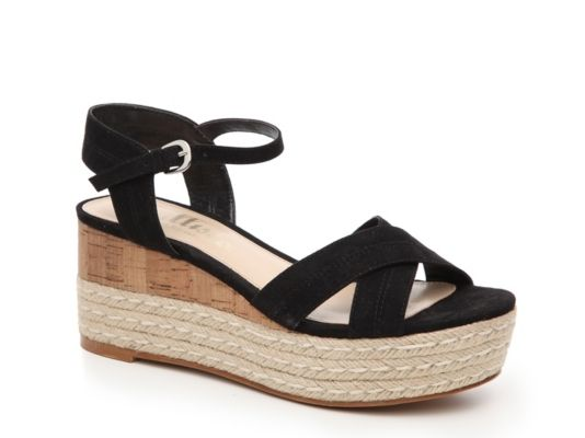 7e60a0ae356a Women s Callisto of California Ofelia Wedge Sandal - Black ...