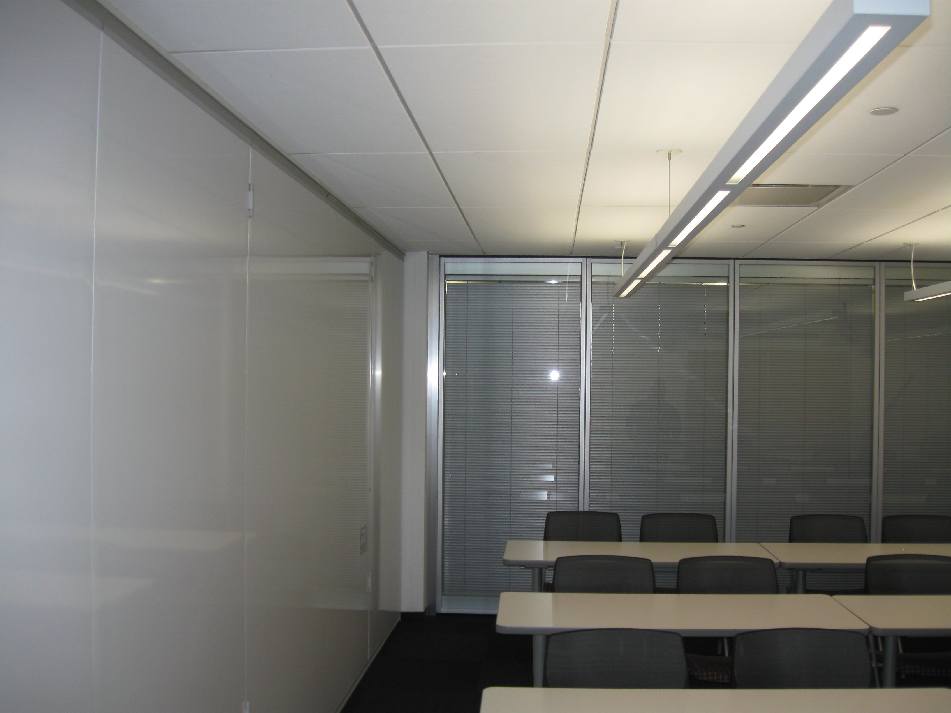 Movable walls! See our installation of a Modernfold Moveo