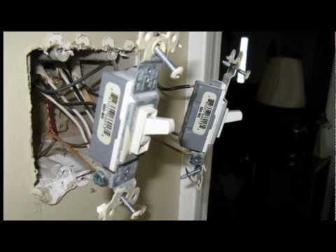 How To Move A Light Switch From One Wall Or Room To Another A Voice Over Slide Show Done While Moving A Fan Light Swit Fan Light Switch Fan Light Light Switch