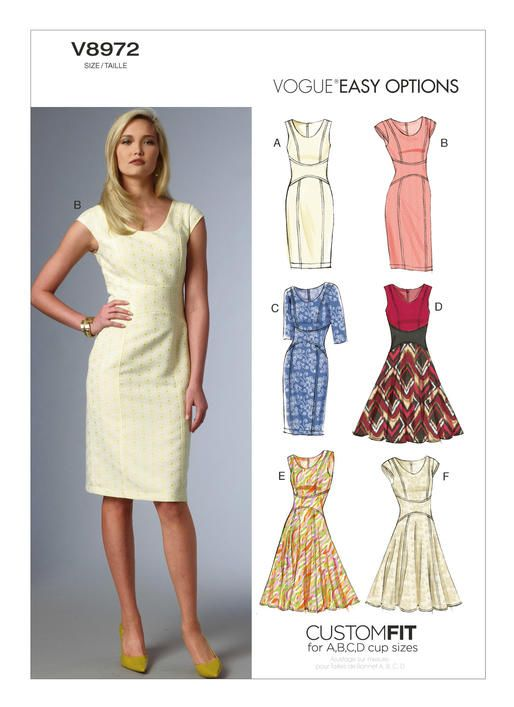 V8972 | Vogue | Pinterest | Sewing patterns, Sewing and Dress sewing ...