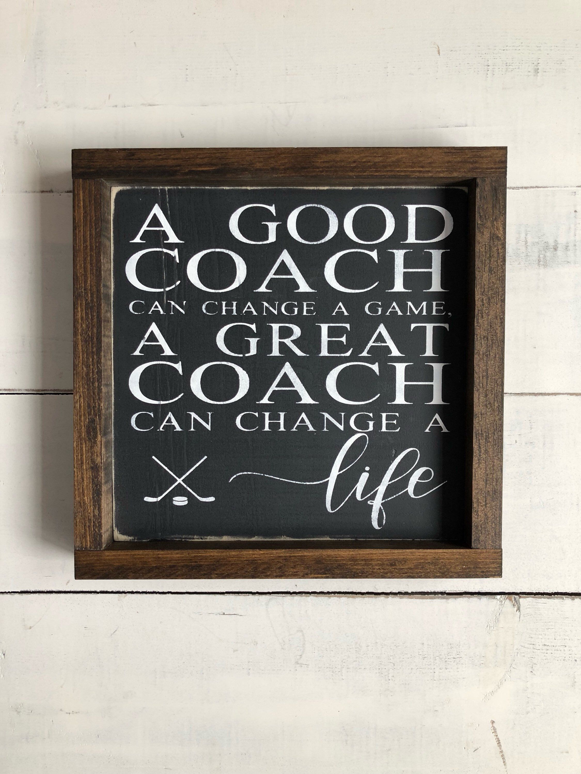 Coach Wood Sign Coach Gift Idea Hockey Coach Gifts Hockey Coach Coach Gifts