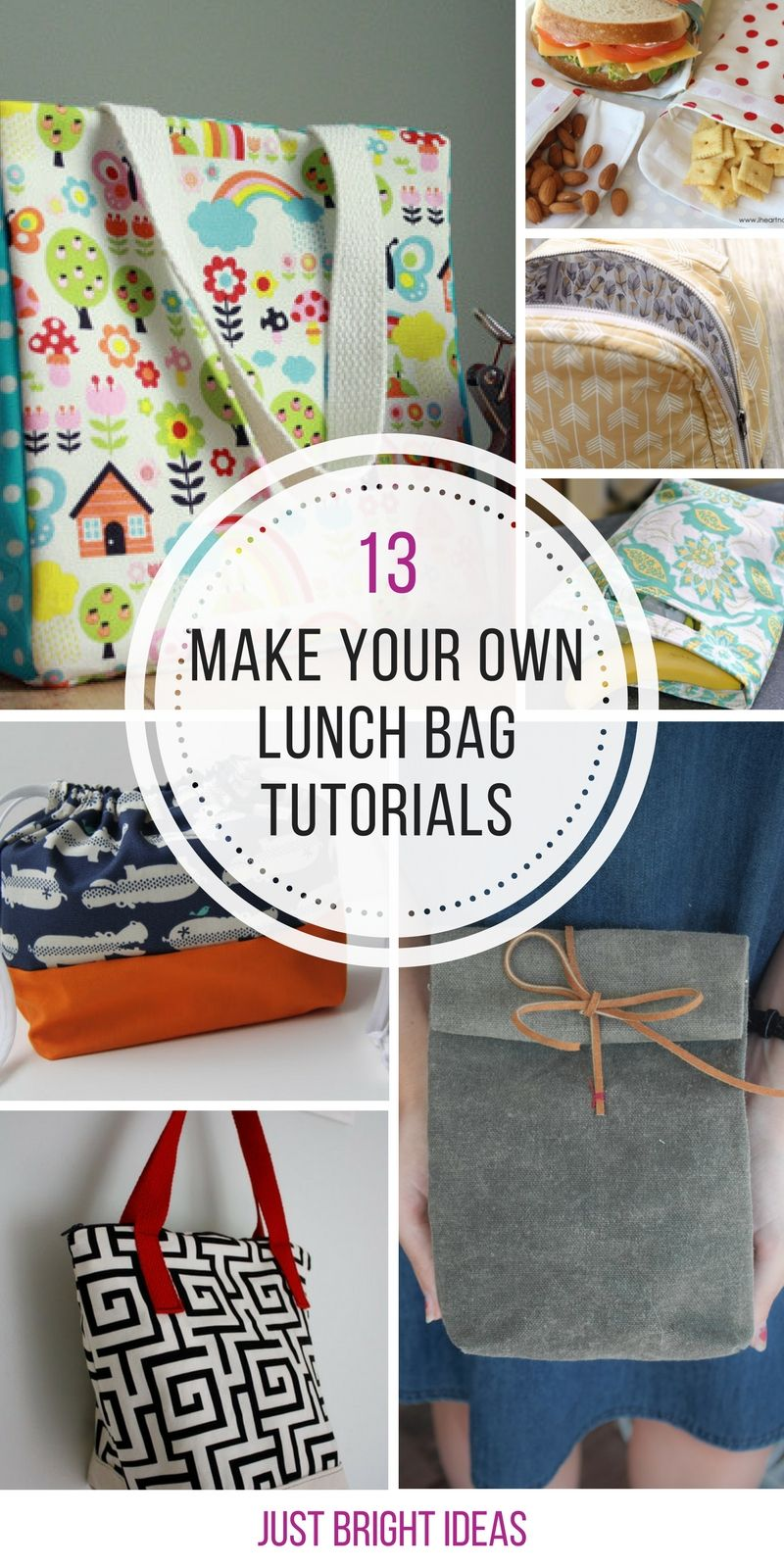 13 Awesome DIY Lunch Bags to Save